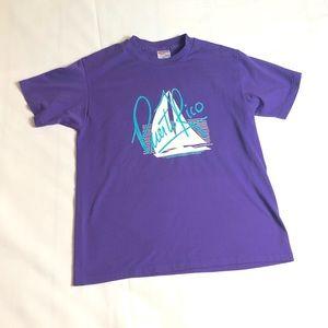Vintage Puerto Rico T-Shirt Single Stitch Purple